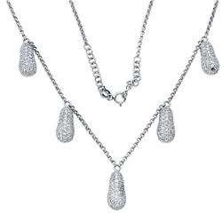 Natural 2.24 CTW Diamond Necklace 18K White Gold - REF-186T3X
