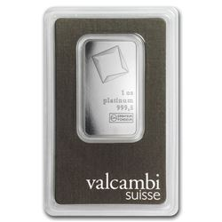 Genuine 1 oz 0.9999 Fine Platinum Bar - Valcambi