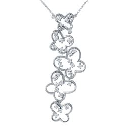 Natural 0.76 CTW Diamond Necklace 14K White Gold - REF-111F6M