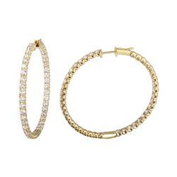 Natural 4.89 CTW Diamond Earrings 14K Yellow Gold - REF-450W9H