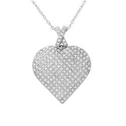 Natural 0.50 CTW Diamond Necklace 14K White Gold - REF-91K8R