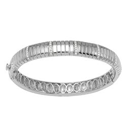 Natural 0.84 CTW Diamond Bangle 14K White Gold - REF-237N6Y
