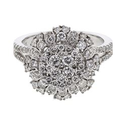 Natural 1.32 CTW Diamond Ring 14K White Gold - REF-151W2H