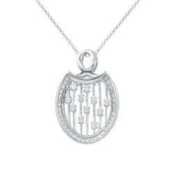 Natural 0.47 CTW Diamond Necklace 18K White Gold - REF-69F3M