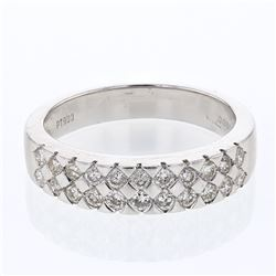 Natural 0.61 CTW Diamond Band Ring Platinum - REF-137F7M