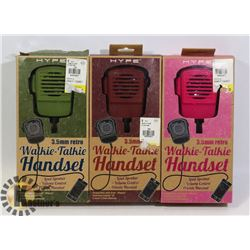 SET OF 3 HYPE RETRO WALKIE