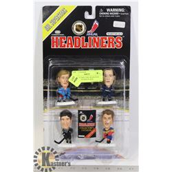 4 COLLECTIBLE NHL HEADLINER HOCKEY FIGURES IN BOX