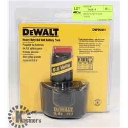 DEWALT HEAVY DUTY 9.6V BATTERY PACK