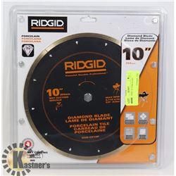 """SEALED RIDGID 10"""" PORCELAIN"""