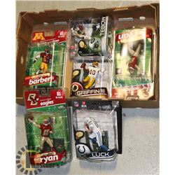 LOT OF 6  ASSORTED FOOTBALL FIGURES