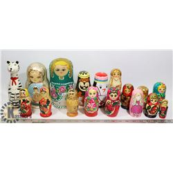 LARGE LOT OF NESTING DOLLS