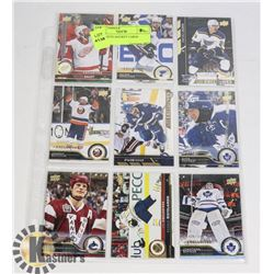 ONE SLEEVE HOCKEY CARDS