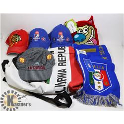 ASSORTED COLLECTIBLES - CALIFORNIA BACKPACK,