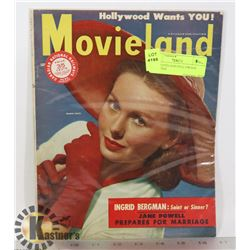 1949 MOVIELAND HOLLYWOOD MAGAZINE