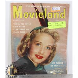 1950 MOVIELAND HOLLYWOOD MAGAZINE