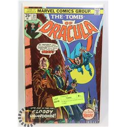 TOMB OF DRACULA # 34 HAS VALUE STAMP COMIC