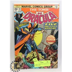 TOMB OF DRACULA # 28 HAS VALUE STAMP COMIC