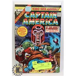 CAPTAIN AMERICA # 4 KING SIZE COMIC