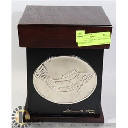 DECORATIVE BOX W/ CARVED FISH- BY HAIDE ARTIST