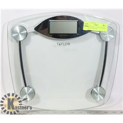 """DIGITAL SCALE- """"TAYLOR"""" BRAND- GLASS & STAINLESS"""