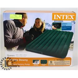 "QUEEN INFLATABLE BED WITH BATTERY PUMP- ""INTEX"