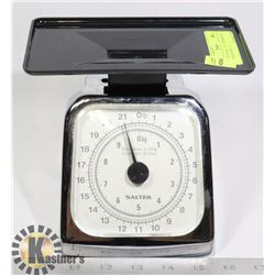 "KITCHEN SCALE- ""SALTER BRAND"" STAINLESS STEEL-22"
