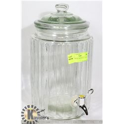 GLASS DRINK DISPENSER- 2 GALLON