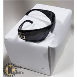 BOX OF BLACK CHANEL STYLED SUNGLASSES