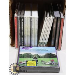 SMALL BOX OF CDS WITH BEATLES RELATED