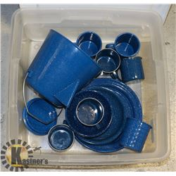 ENAMELWARE CAMPING SET- PLATES/BOWLS/CUPS/COFFEE