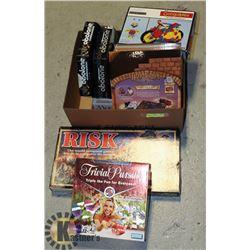 BOARD GAMES- ASSORTED BOX LOT