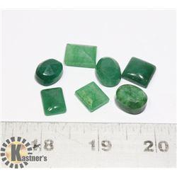 #56-GREEN EMERALD GEMSTONE 69.55ct