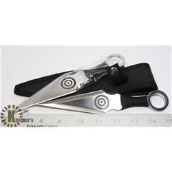 NEW 2PC THROWING KNIFE SET WITH SHEATH