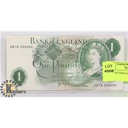 BANK OF ENGLAND - ONE POUND BILL
