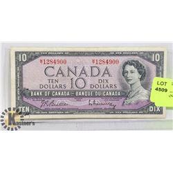 1954 CANADIAN $10 DOLLAR BILL