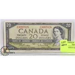 1954 CANADIAN $20 DOLLAR BILL