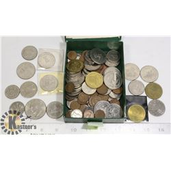 BOX OF MISCELLANEOUS COINS