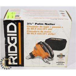 "RIDGID 3-1/2"" PALM NAILER (AIR POWERED)"