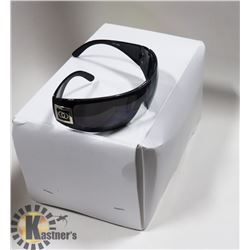 BOX OF BLACK CHANEL STYLED SUNGLASSES