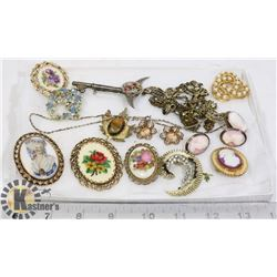 VINTAGE BROOCHES CAMEO
