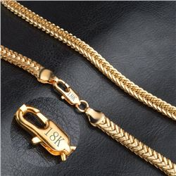 NEW GOLD PLATED CHAIN STAMPED 18K