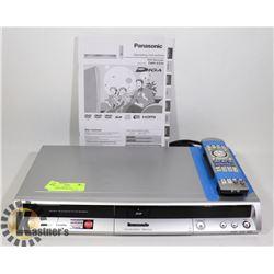 PANASONIC HDMI DVD PLAYER/RECORDER- DMR-ES25