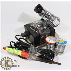 WELLER SOLDERING IRON WITH STAND AND ASSORTED