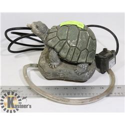 FOUNTAIN- STONE/CONCRETE TURTLE WITH PUMP