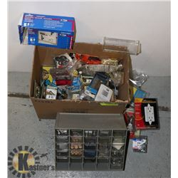 HARDWARE- ASSORTED BOX LOT