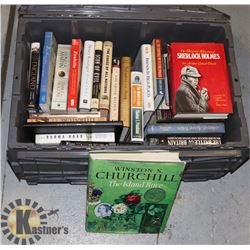 HARDCOVER BOOKS- ASSORTED- LARGE TOTE LOT