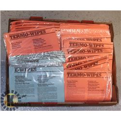 FLAT OF E WIPES AND THERMO WIPES