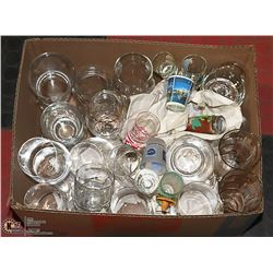 ESTATE BOX OF GLASS BAR WARES AND MORE