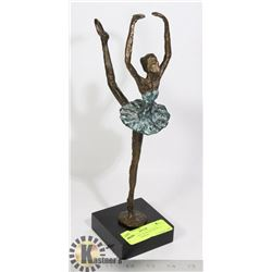 """BALLERINA"" IN WOOD BASE, 11 INCHES IN HEIGHT"