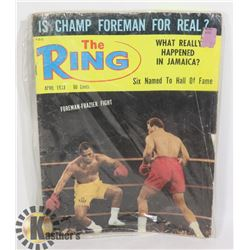 THE RING 1973 BOXING MAGAZINE
